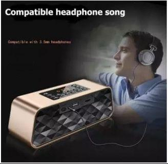 Keling F6 wireless Bluetooth speaker FM dual speakers computer audio car subwoofer card U disk-intl
