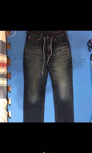 EDWIN 牛仔褲 9.9新
