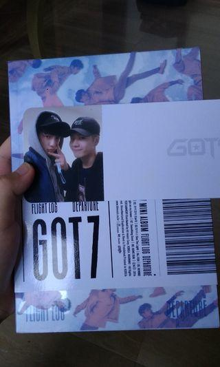 Wts got7 album with boarding pass