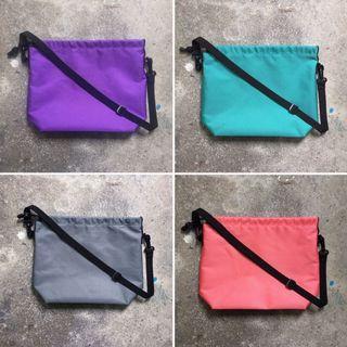 縫目工作室 fengmu_studio 防水牛津布束口肩背包 側背包 戶外 輕量 大容量 斜背包 手作包包 手工包包