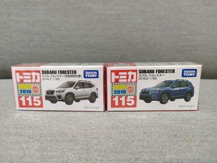 🚚 1/64 Tomica #115 Subaru Forester (pair)