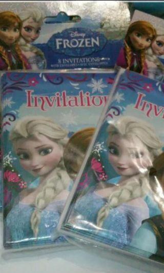 Frozen invitation Cards
