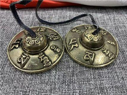 Tibetian bronze tingsha cymbal bells #yoga #mediation