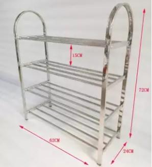 Multi-layer economical stainless steel shoe rack