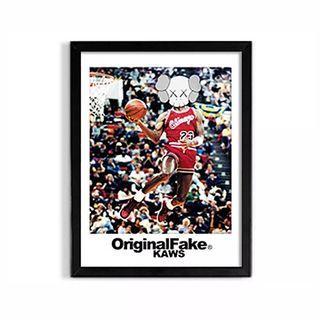 🚚 KAWS OriginalFake Basketball Personification Framed Wall Paintings (2 Options)