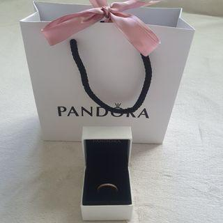 Brand New Pandora Sparkle and Hearts Ring Rose Gold