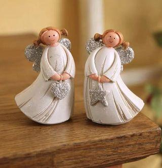 One set Little angel figurine decor