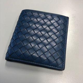 Bottega Veneta BV 男裝銀包 藍色 blue wallet