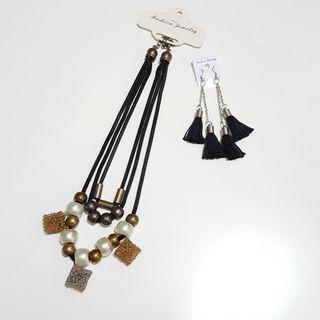Necklace and Tassel Earring