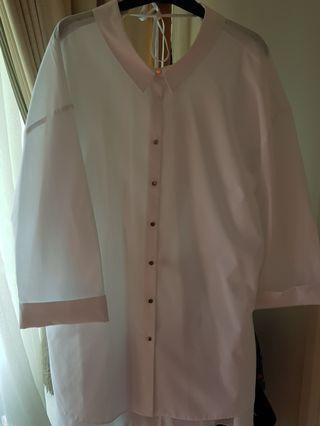 Plus size River Island White shirt tunic UK 20