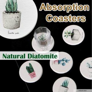 🏅🏅DIATOMITE ABSORPTION COASTERS