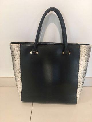 Dorothy Perkins snake print large tote bag