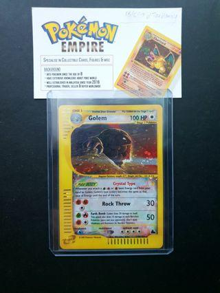 NM - Pokemon Card Skyridge Crystal Golem Secret Rare