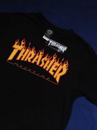 THRASHER FLAME TSHIRT BLACK