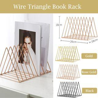 🏅🏅WIRE TRIANGLE BOOK RACK