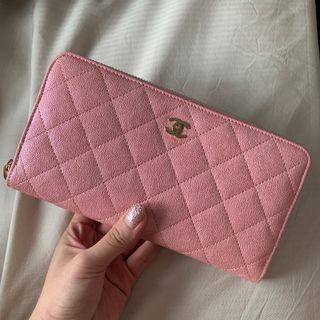 LN chanel pink iridescent long wallet 💕