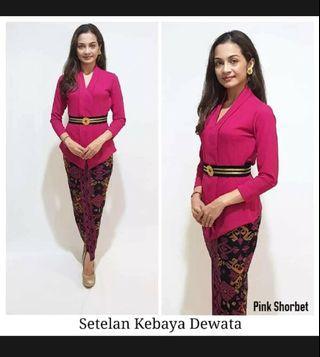NEW Kebaya Bali set cantique fit to 60kg