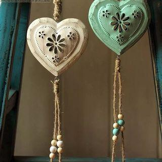 Sold separately- Shabby chic rustic heart shape hanging decor