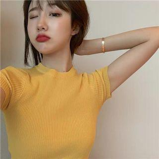 PO Knitted Round Neck Crop Top