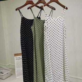 🚚 PO Polka Dots Printed Midi Shift Dress