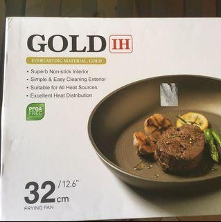 BN 32 cm happycall frying pan - gold