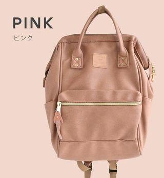 Anello Light Pink Mini PU Leather Backpack