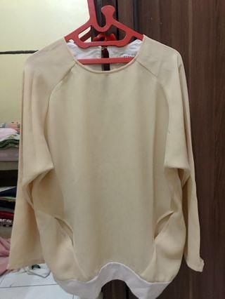 Cotton ink blouse kuning