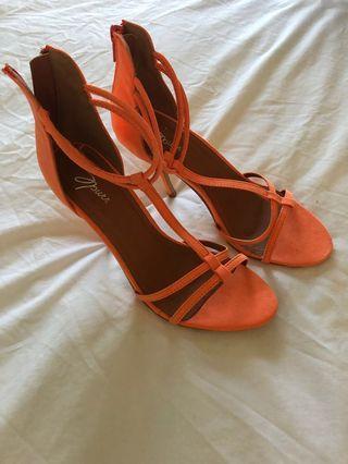 'Spurr' Veronica Heel Orange Size 6