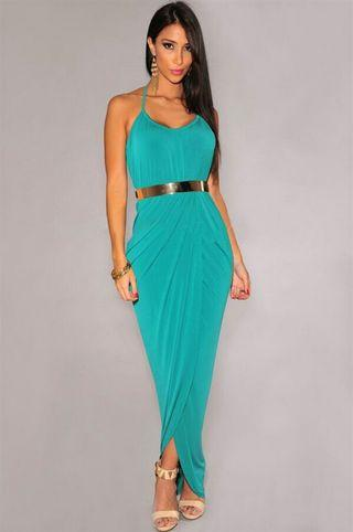 Maxi Dress Body Fit Backless