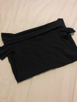 'Clothing & Co' Black Off The Shoulder Top Size 10