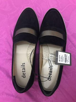 Details Nevada Flat Shoes Black - Flat Shoes Hitam