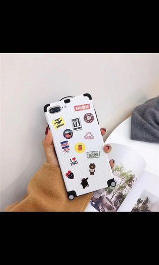 BN iPhone X Sticker Travel Suitcase Case