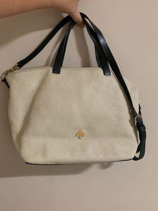 🚚 Kate Spade ♠️ cream color bag with sling