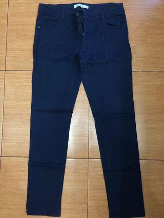 Jeans biru agak keunguan merk Happy Pants size XL