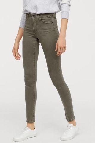 H&M khaki green jeans