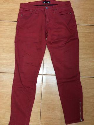 Jeans merah merk Forever 21 premium jeans size US 29
