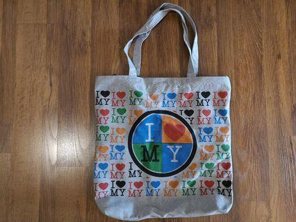 I Love MY Tote Bag with zipped