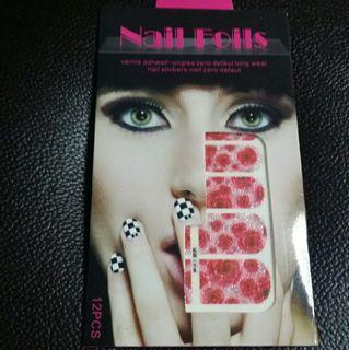 Pink Nail Art Stickers Wrap