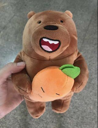 BNWT we bare bears grizz plush toy