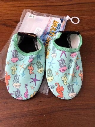 Baby toddler mint green underwater aqua shoes size xxs