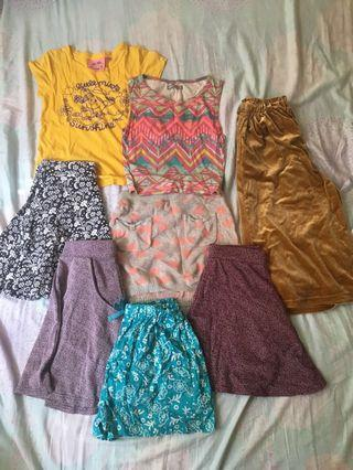 Summer girls outfit cotton on forever 21 bossini H&M uniqlo skirts T-shirt pants sixty eight set for girls