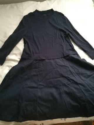 COS Navy Dress