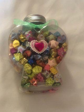 Handmade Heart Shape Stars