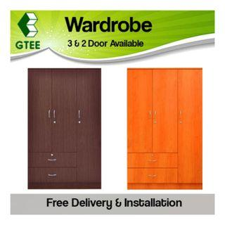JORDON 3D Wardrobe Cherry Walnut