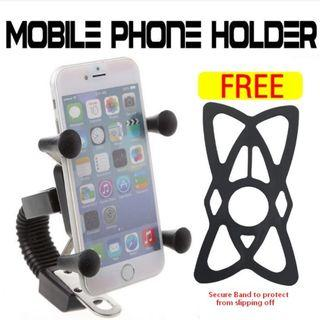 X Grips Phone Holder for Motorcycle Motorbike Hand phone holder #MRTAMK