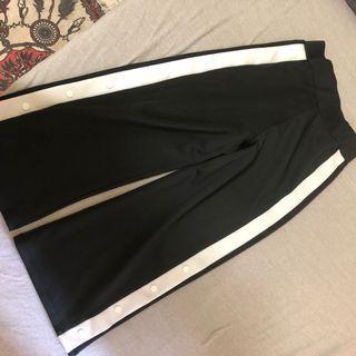 🚚 側釦寬褲