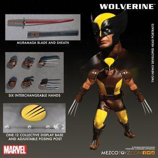 Mezco Wolverine brown 啡 狼人 X-Men