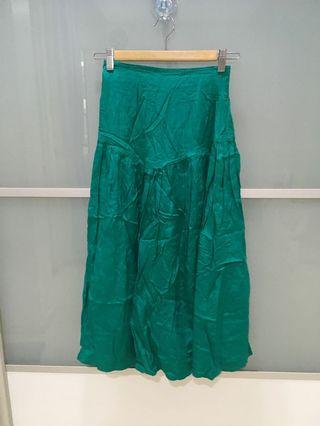 Green Muslim long skirt