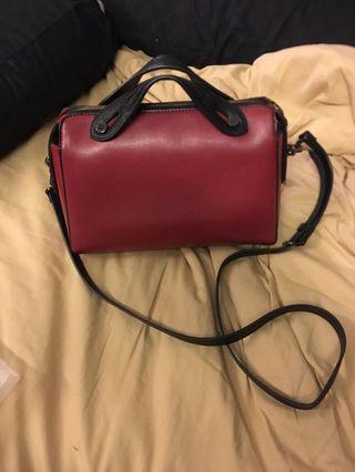 Charles & keith handbag red