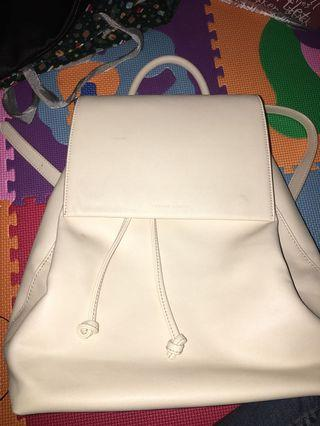 Charles & keith backpack white